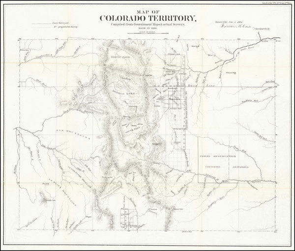 59-Colorado and Colorado Map By General Land Office
