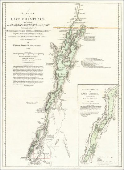 Vermont and New York State Map By Robert Sayer  &  John Bennett