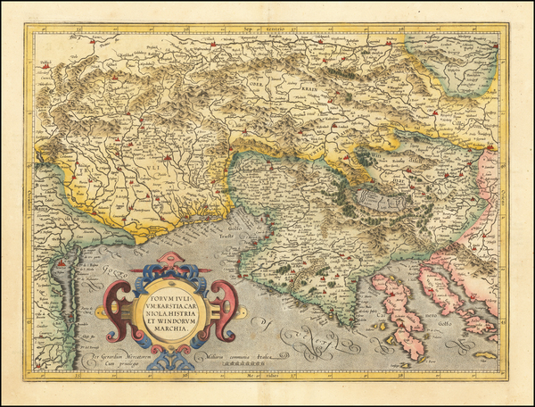 56-Croatia & Slovenia and Northern Italy Map By Gerhard Mercator