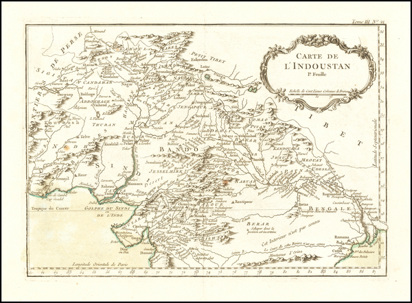 18-India and Central Asia & Caucasus Map By Jacques Nicolas Bellin