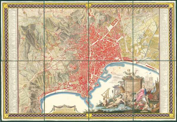 57-Southern Italy and Other Italian Cities Map By Giovanni Antonio Rizzi-Zannoni