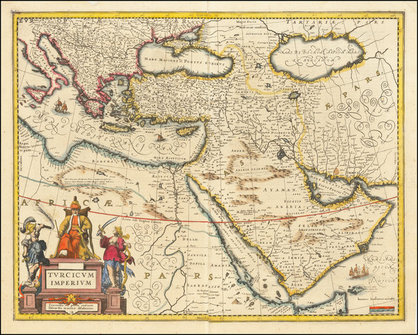 16-Turkey, Middle East and Turkey & Asia Minor Map By Jan Jansson
