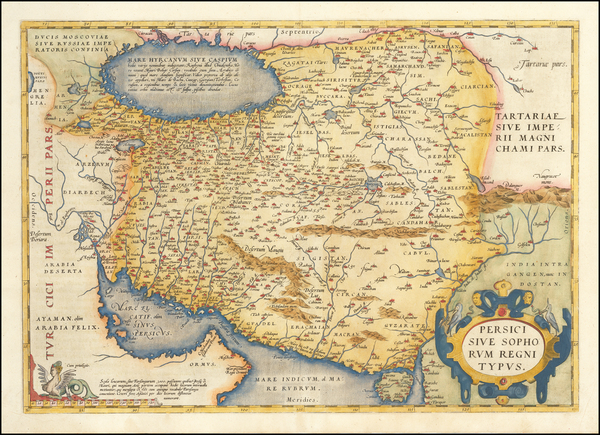 97-Persia Map By Abraham Ortelius