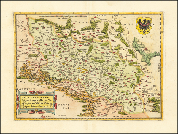 87-Poland Map By Abraham Ortelius