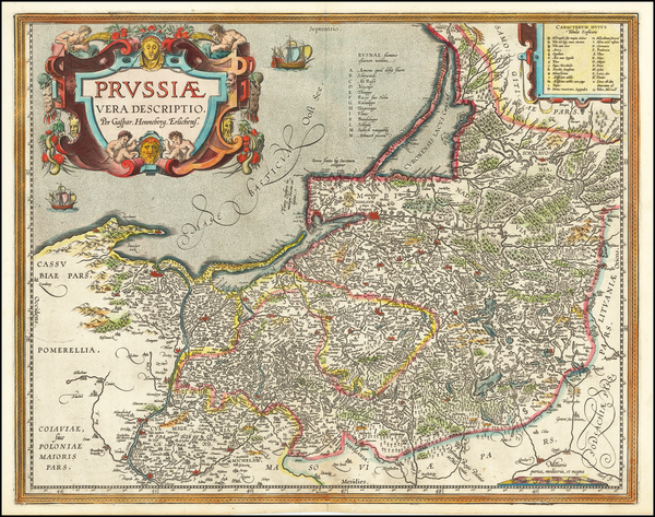 17-Germany, Poland and Baltic Countries Map By Abraham Ortelius