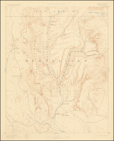 84-New Mexico Map By U.S. Geological Survey