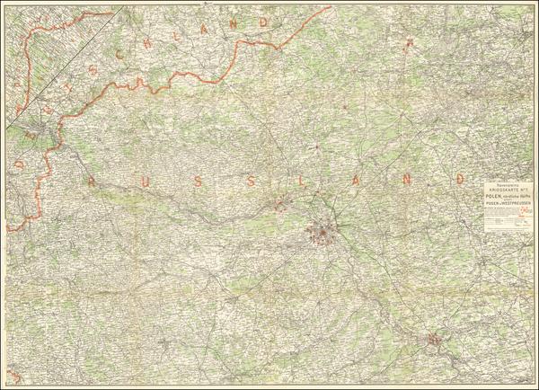 93-Poland and World War I Map By E.G. Ravenstein