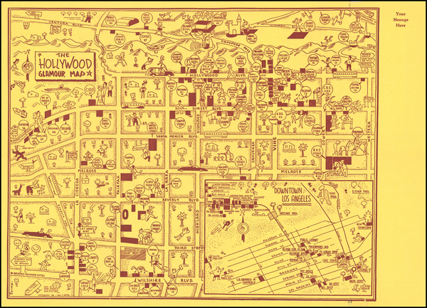 17-Pictorial Maps and Los Angeles Map By Paul F. Adler
