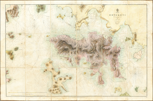 42-China and Hong Kong Map By British Admiralty