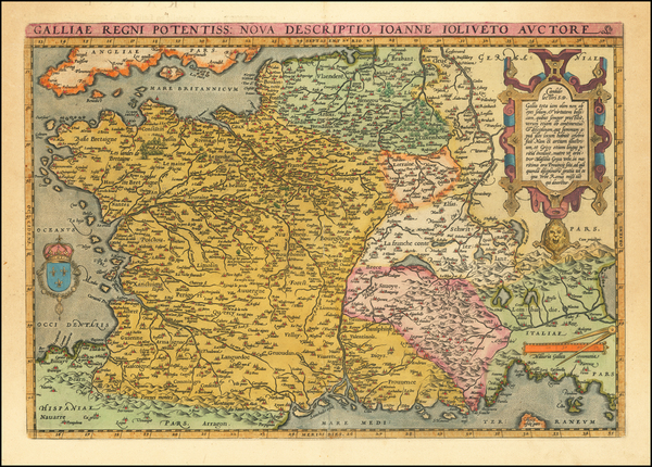 38-France Map By Abraham Ortelius