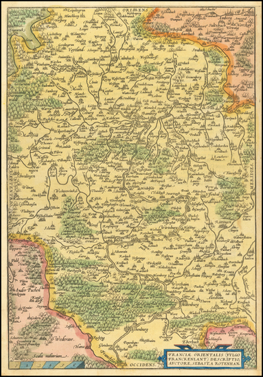 53-Germany Map By Abraham Ortelius