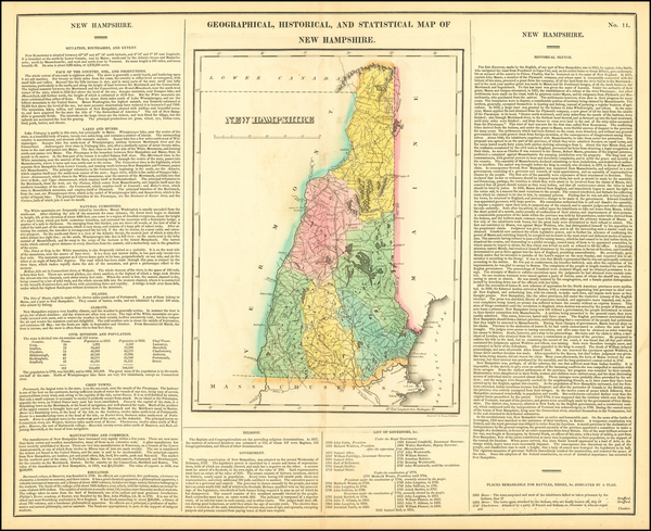 49-New Hampshire Map By Henry Charles Carey  &  Isaac Lea