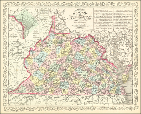 58-Virginia Map By Charles Desilver