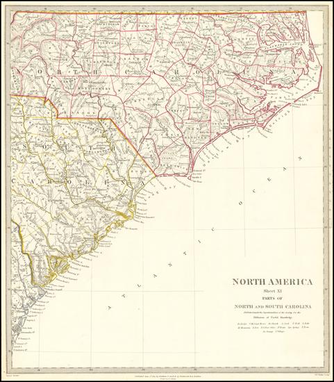 49-North Carolina and South Carolina Map By SDUK