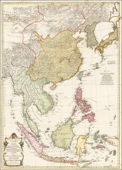 79-China, Japan, Korea, Philippines, Indonesia and Malaysia Map By Franz Anton Schraembl