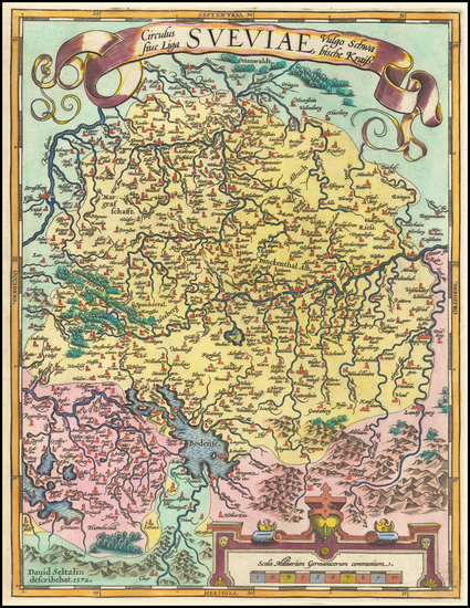 15-Germany Map By Abraham Ortelius