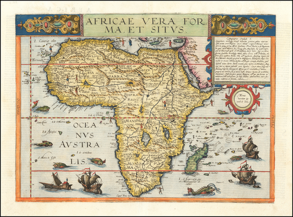 Africa Map By Gerard de Jode