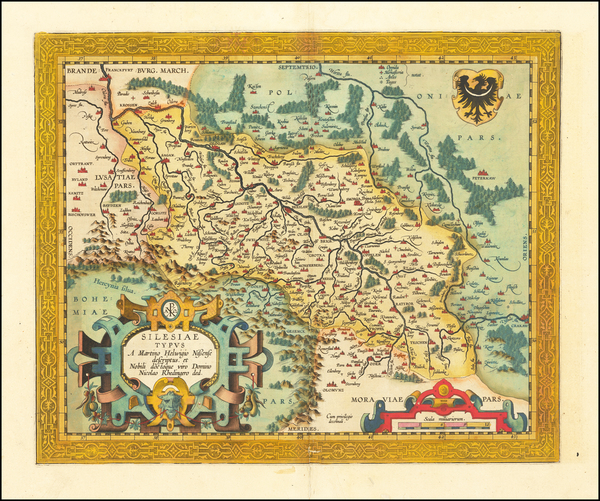 70-Poland Map By Abraham Ortelius