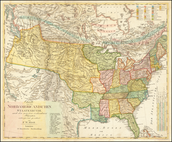 13-United States Map By F.W. Streit