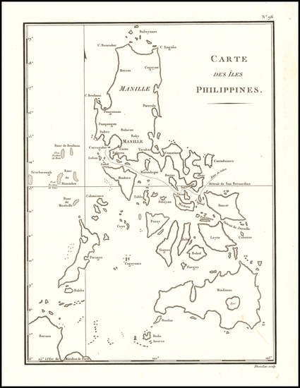 53-Philippines Map By Chretien Louis Joseph de Guignes
