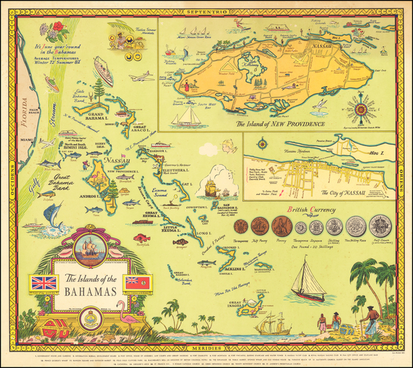 3-Caribbean and Pictorial Maps Map By George Annand