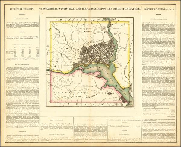 62-Washington, D.C. Map By Henry Charles Carey  &  Isaac Lea