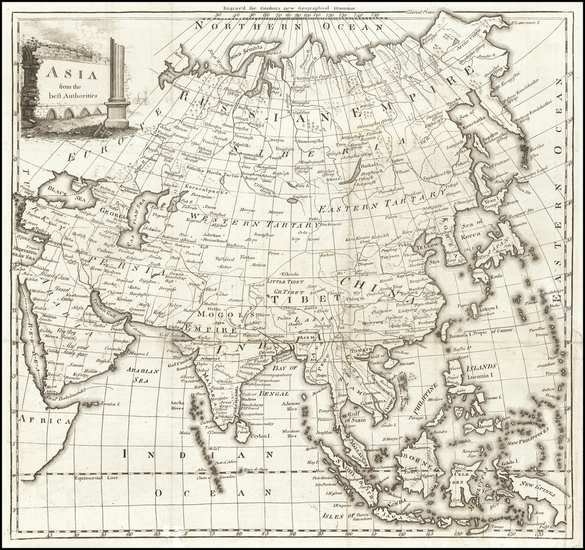 Asia and Korea Map By William Gordon