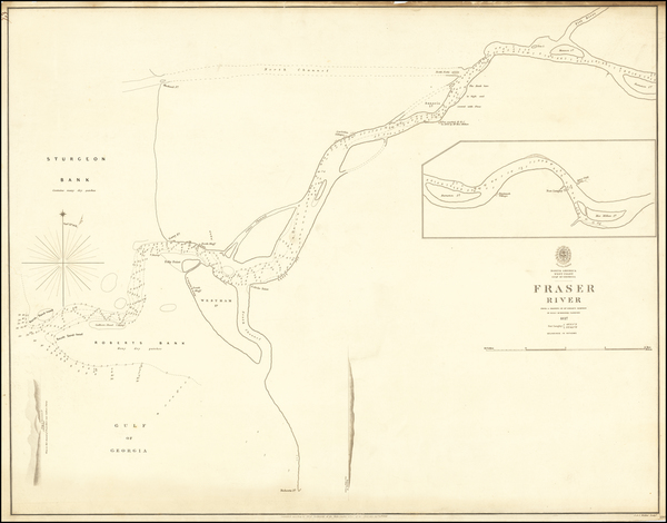 Pacific Northwest and Canada Map By British Admiralty