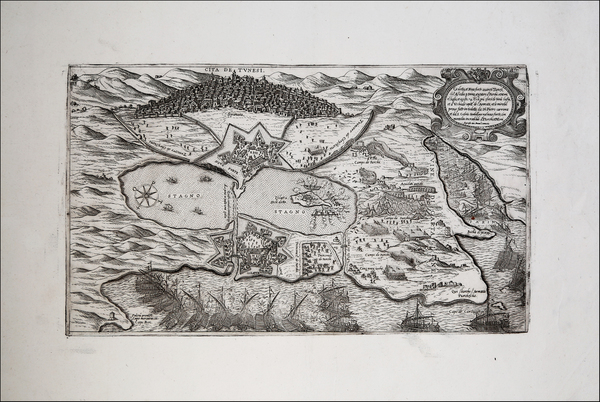 North Africa Map By Giovanni Francesco Camocio