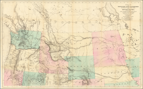 Plains, Rocky Mountains, California and Rare Books Map By John Mullan