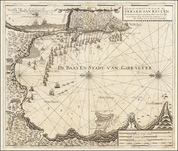 50-England and Spain Map By Johannes Van Keulen