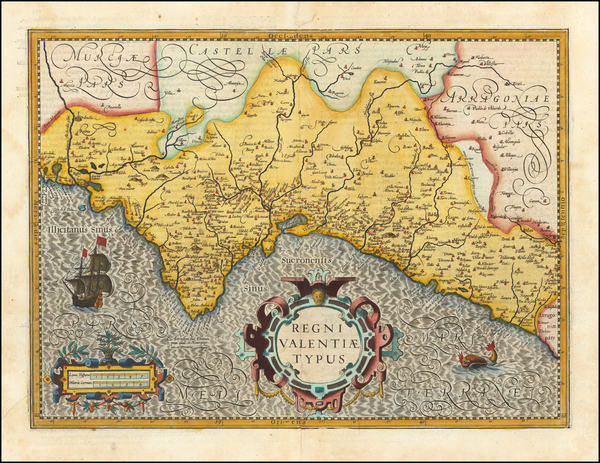 15-Spain Map By Henricus Hondius