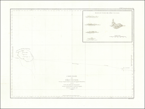 60-Hawaii, Hawaii and Other Pacific Islands Map By Jean Francois Galaup de La Perouse