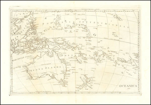 72-Pacific Ocean, Philippines and Oceania Map By Anonymous