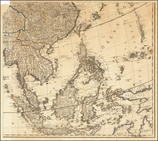 China, Southeast Asia, Philippines, Indonesia and Malaysia Map By Anthimos Gazis