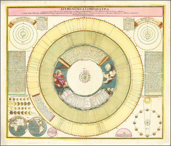 86-Celestial Maps and California as an Island Map By Johann Gabriele Doppelmayr