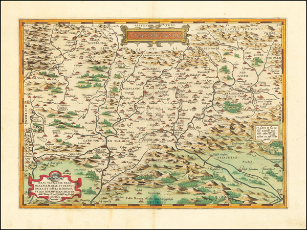14-Romania and Balkans Map By Abraham Ortelius