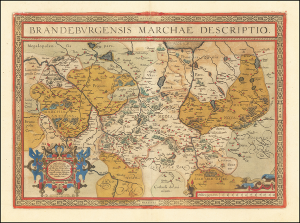 89-Germany Map By Abraham Ortelius