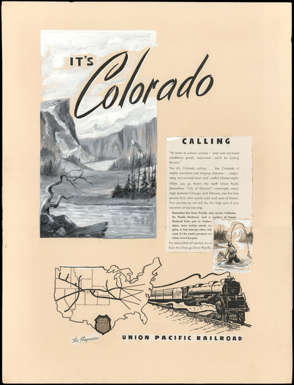 84-United States, Colorado and Colorado Map By Anonymous