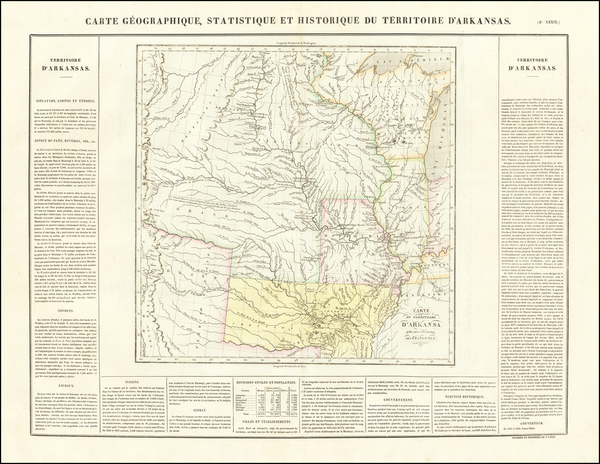 77-Arkansas, Texas, Midwest, Plains, Southwest and Rocky Mountains Map By Jean Alexandre Buchon