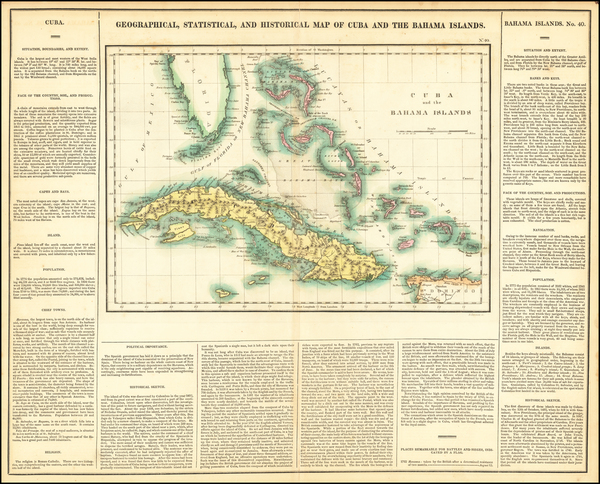 72-Cuba and Bahamas Map By Henry Charles Carey  &  Isaac Lea