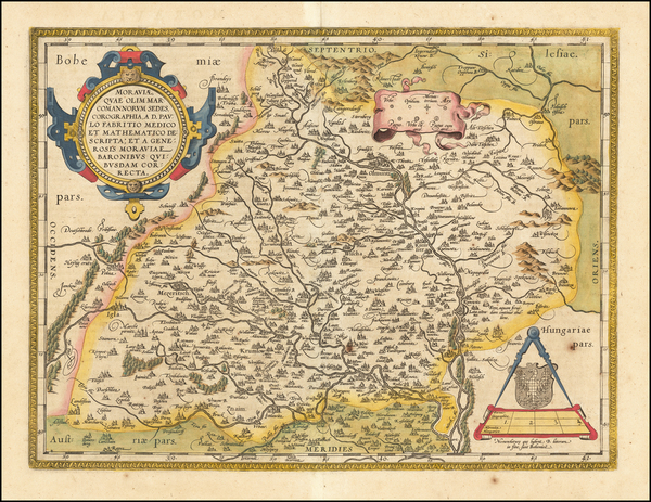 27-Poland and Czech Republic & Slovakia Map By Abraham Ortelius