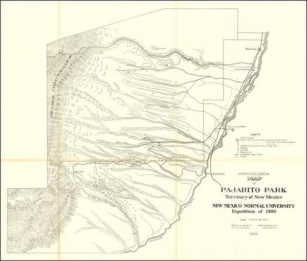 New Mexico Map By Norris Peters Co.