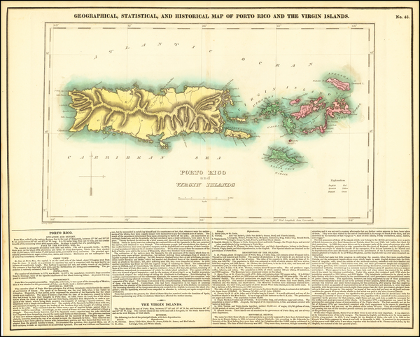 59-Puerto Rico and Virgin Islands Map By Henry Charles Carey  &  Isaac Lea