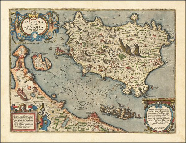 1-Southern Italy Map By Abraham Ortelius