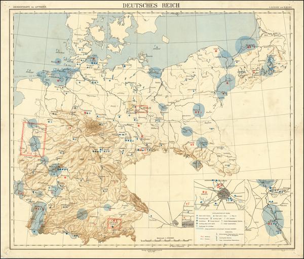 82-Germany Map By Luftfahrerdank G.m.b.H