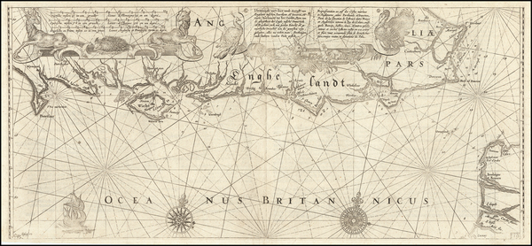 53-England Map By Willem Janszoon Blaeu