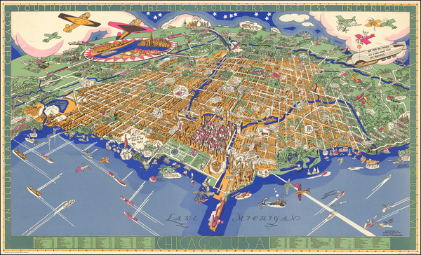 75-Chicago Map By Charles Turzak  &  Henry Chapman