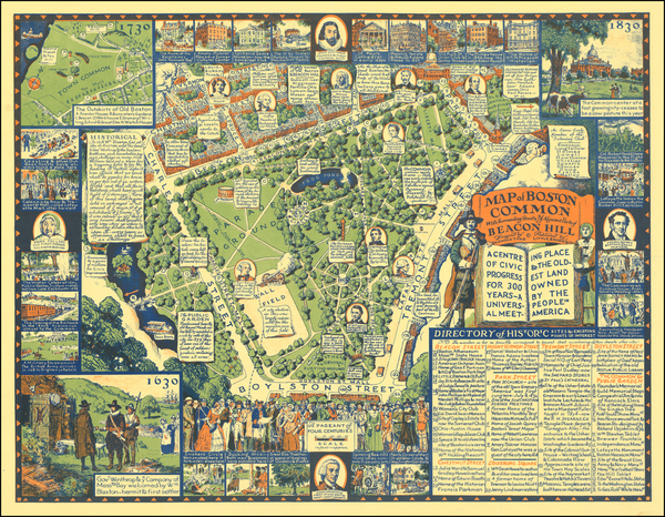 44-Pictorial Maps and Boston Map By Griswold Tyng