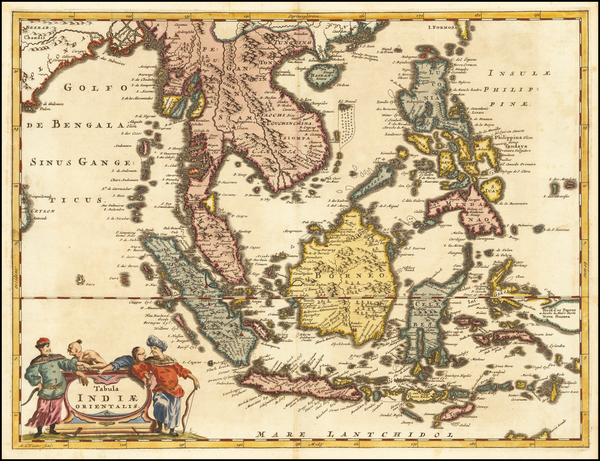 Southeast Asia, Philippines and Indonesia Map By Anthoine de Winter